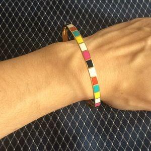 Kate Spade color block gold bracelet